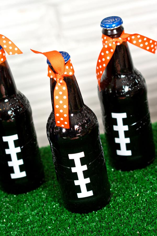 Football themed Drink Decor