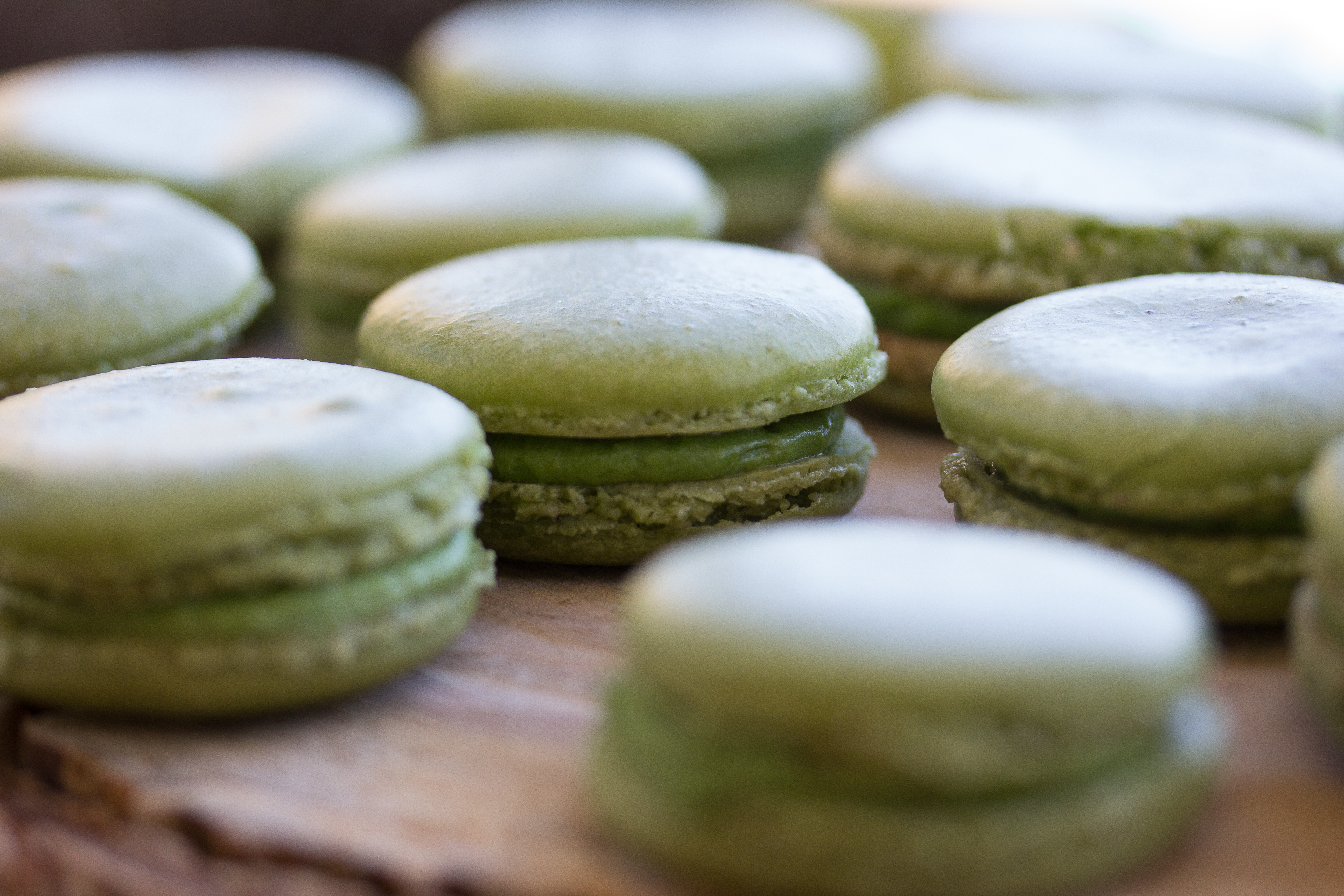 Green macarons at Woodland Baby Shower