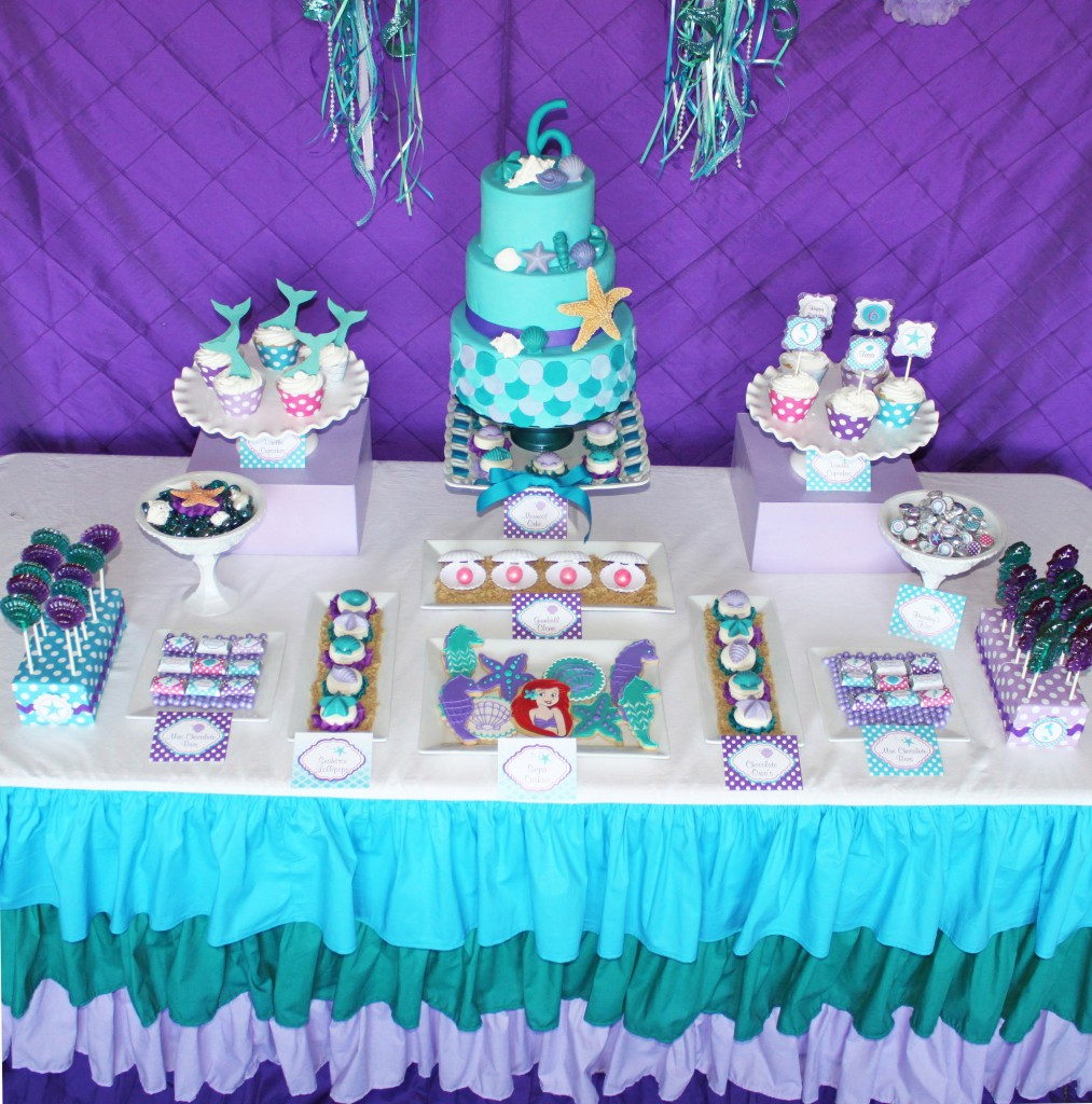 Little mermaid party for Ariel birthday decoration ideas