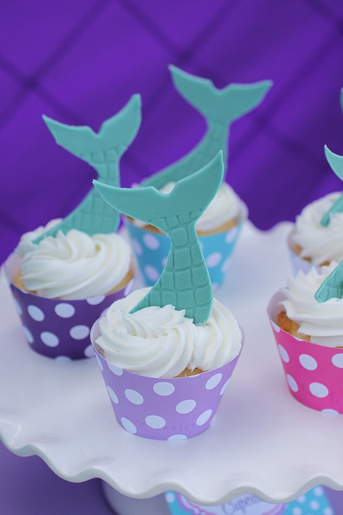 Little Mermaid Party Cupcakes