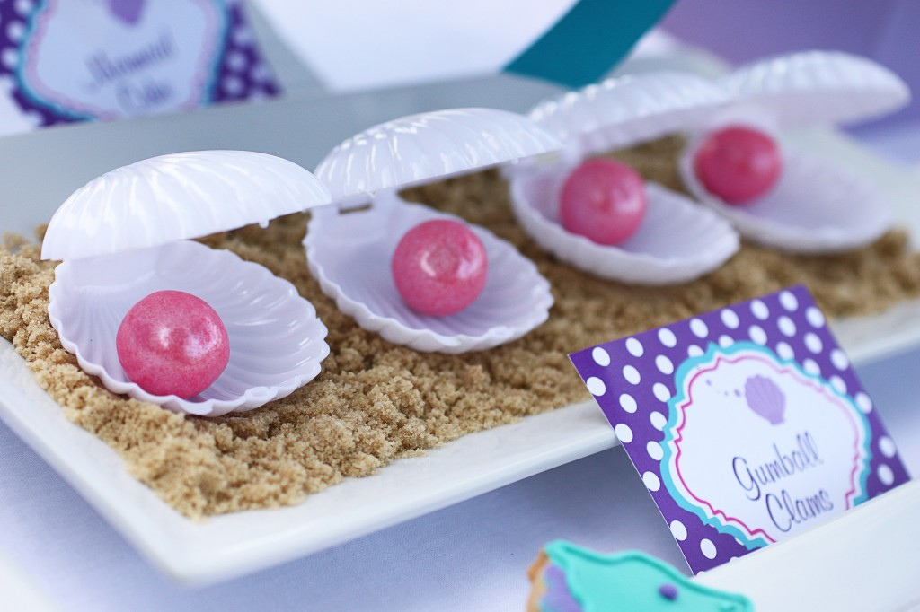 Little Mermaid Party Gumball Clams