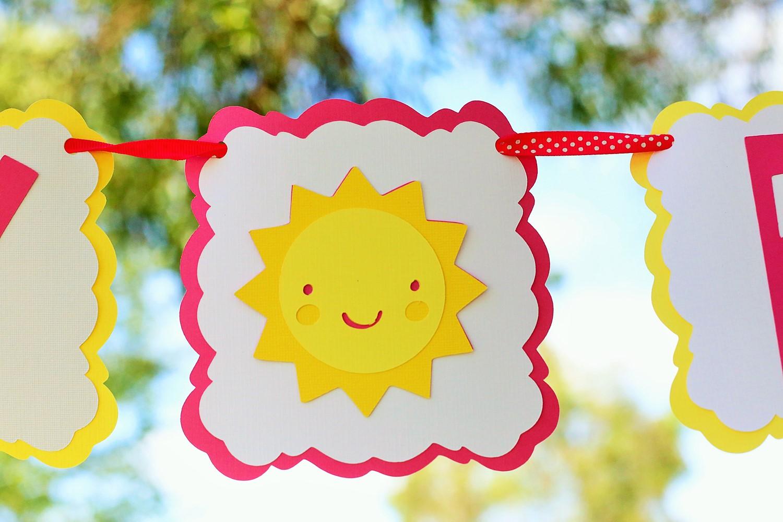 sunshine and lemonade party birthday banner