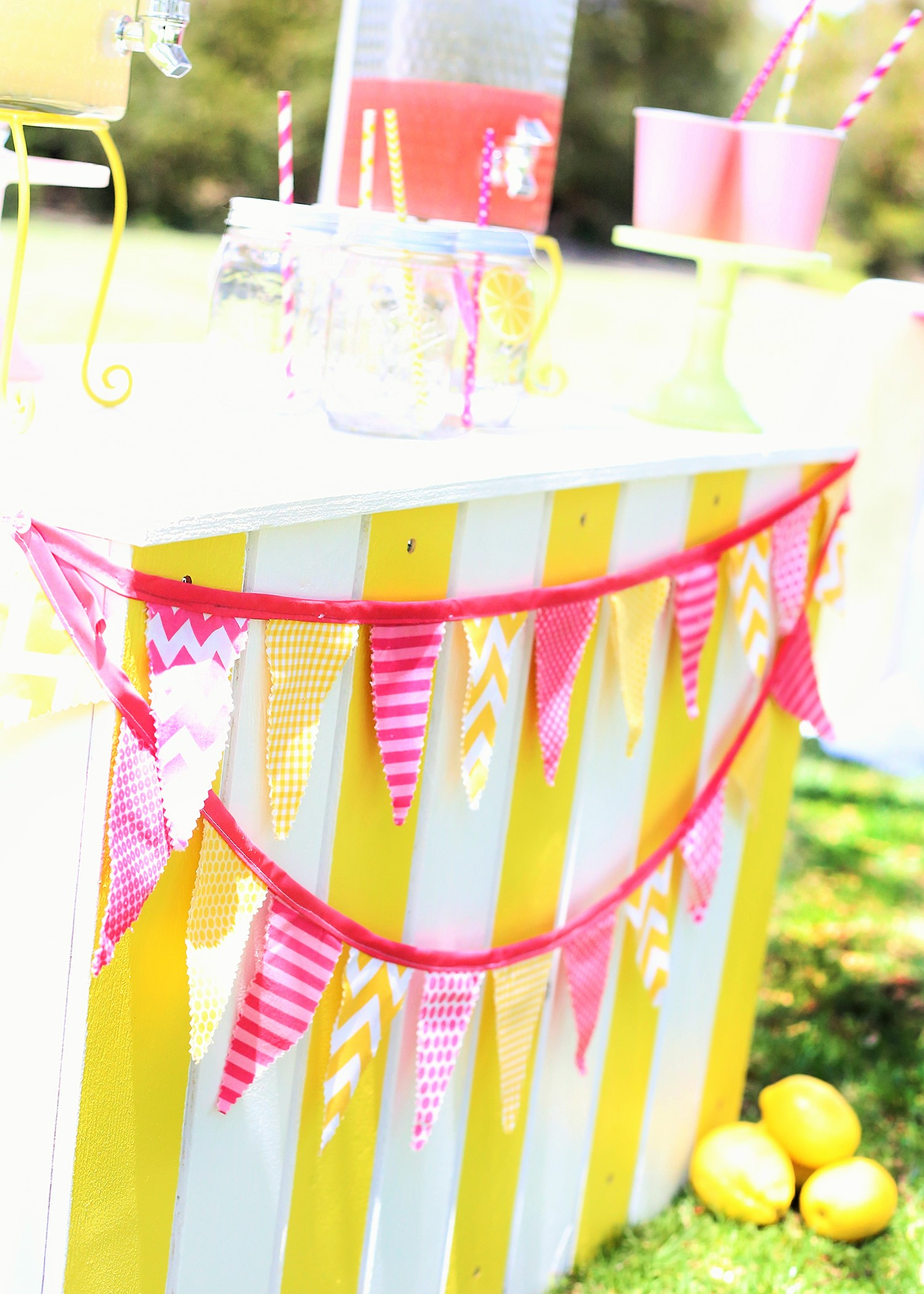 sunshine and lemonade party banner