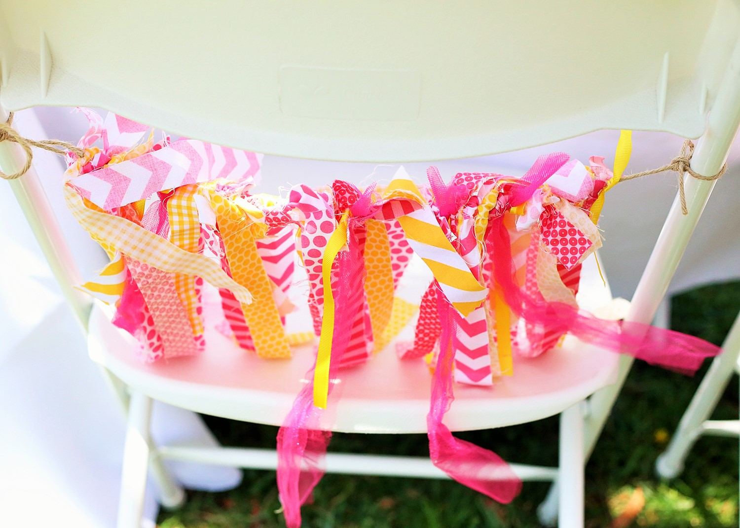 custom chait ties for a sunshine and lemonade party