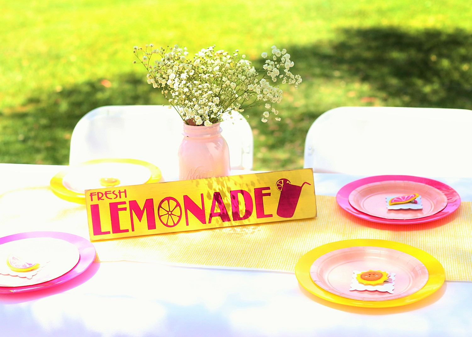 sunshine and lemonade party lemonade stand sign
