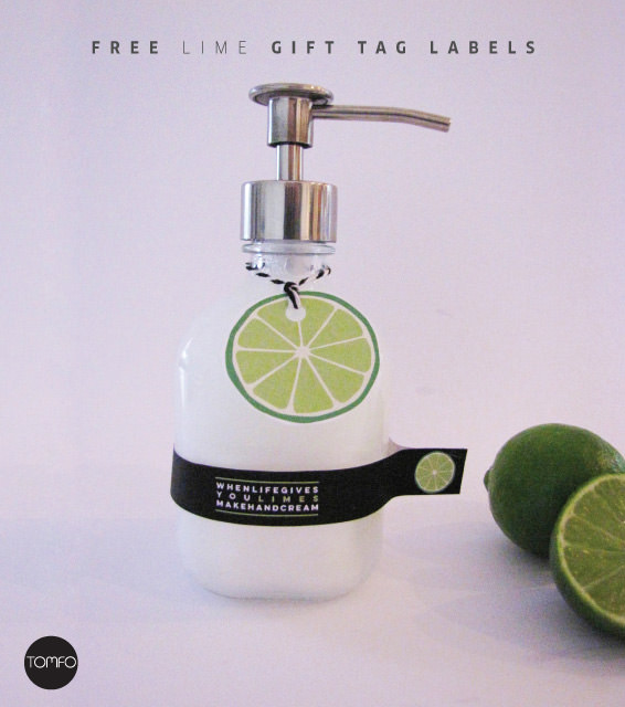 free lime gift tag