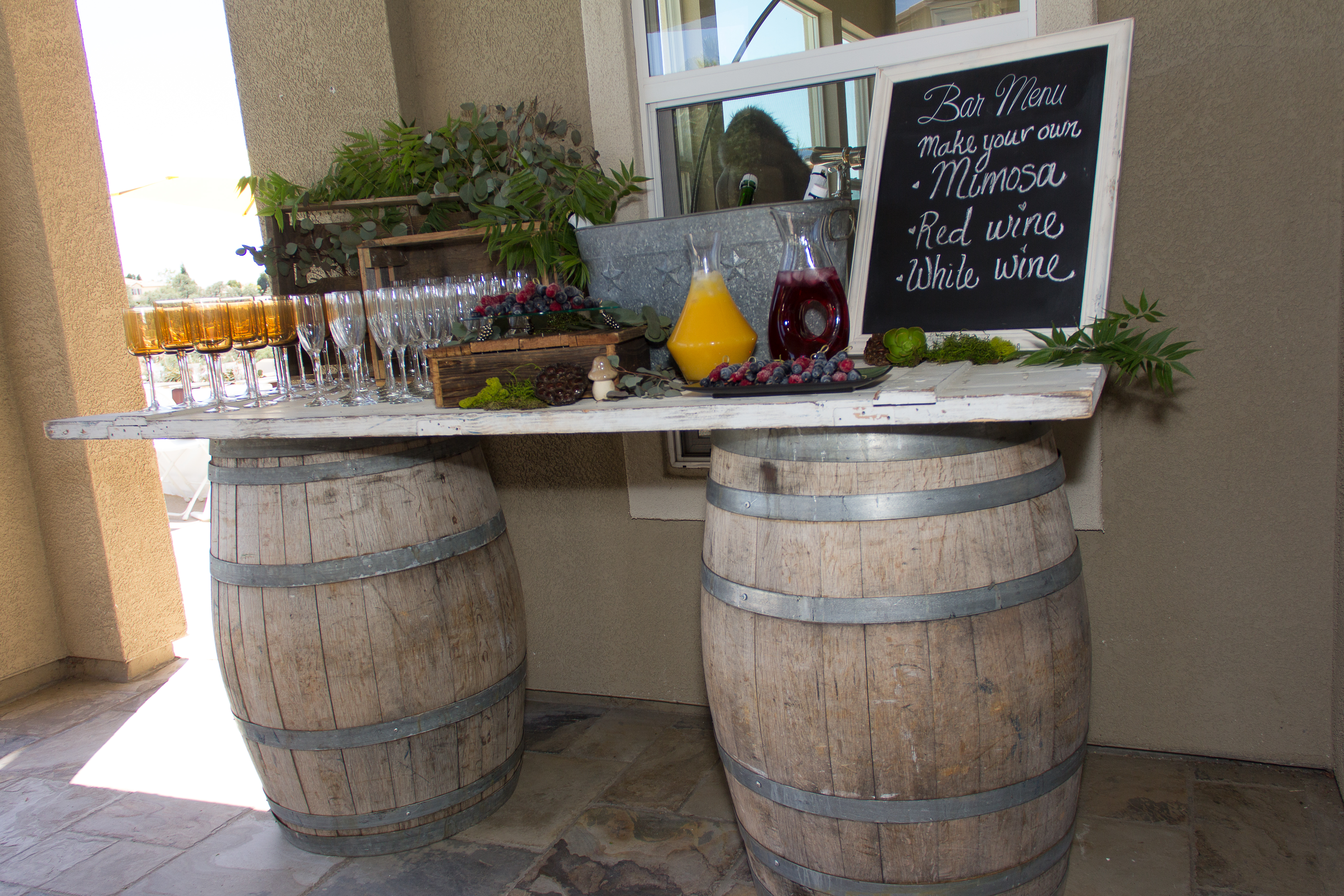 Woodland Baby Shower Drink Station
