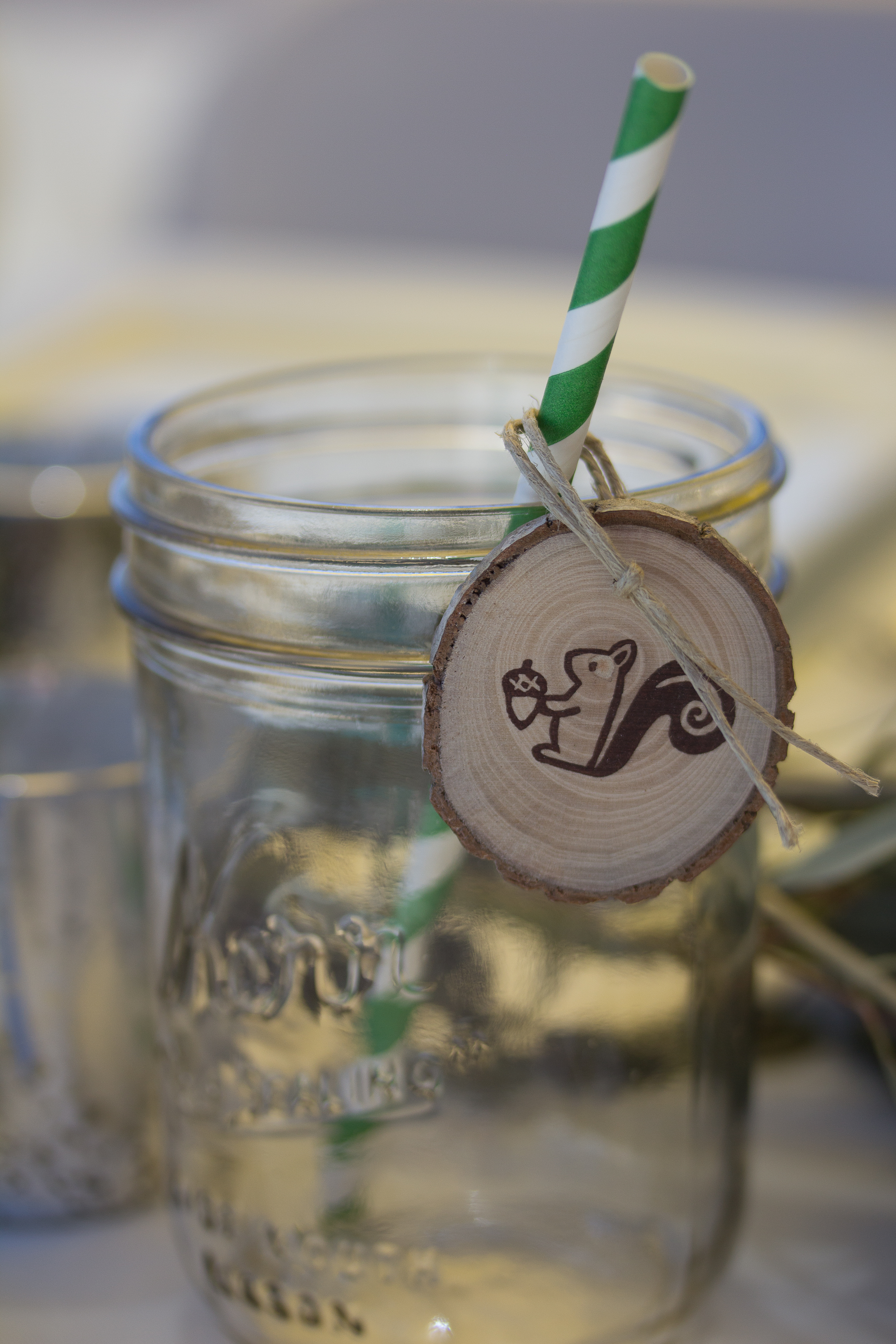 Woodland Baby Shower Mason Jar and Tag