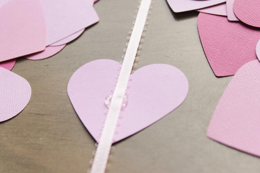 diy ombre heart banner
