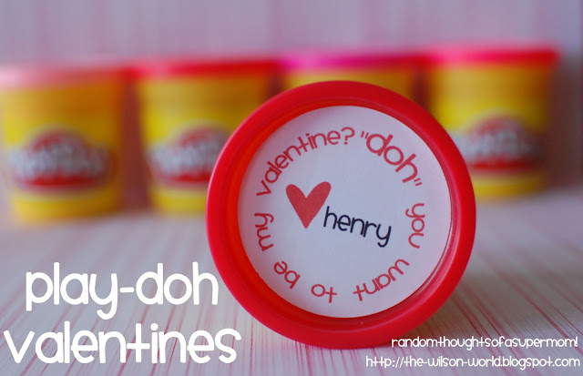 play doh valentine