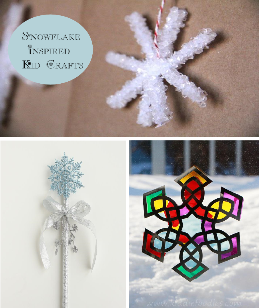 Snowflake Inspired Kid Crafts