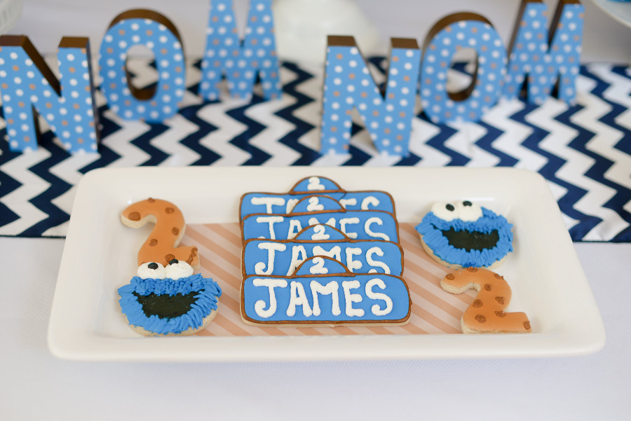 cookie monster birthday party cookies