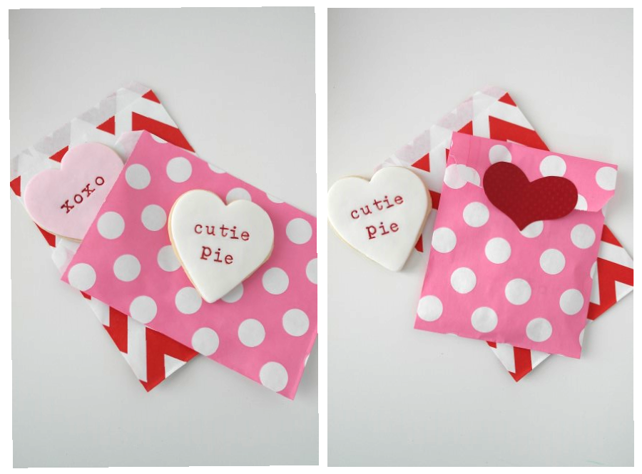 valentines cookie and party bags