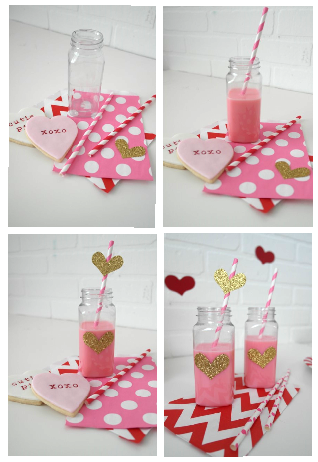 valentines day cookies and milk