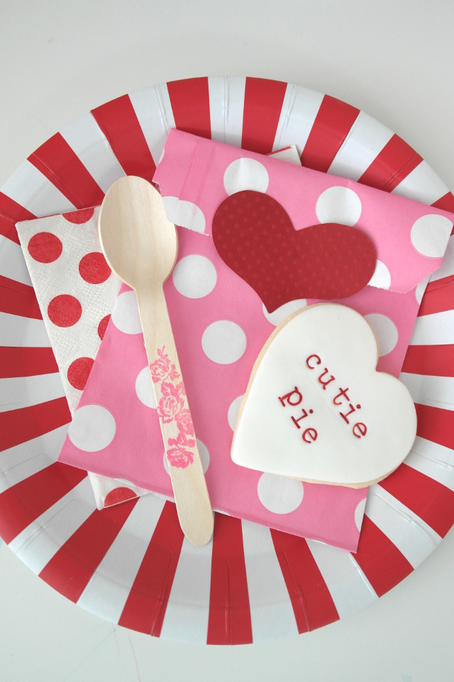 valentines day cookies and party