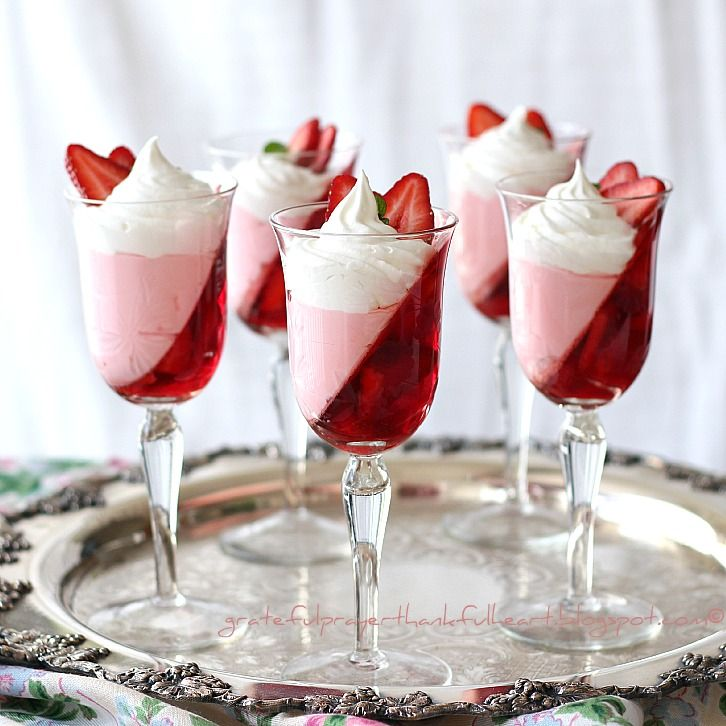 Strawberry Parfaits from With a Grateful Prayer and a Thankful Heart