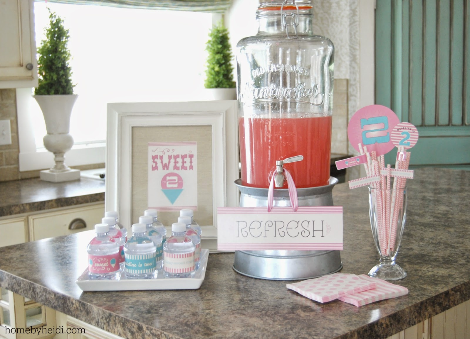Ice Cream Parlor Party Beverages
