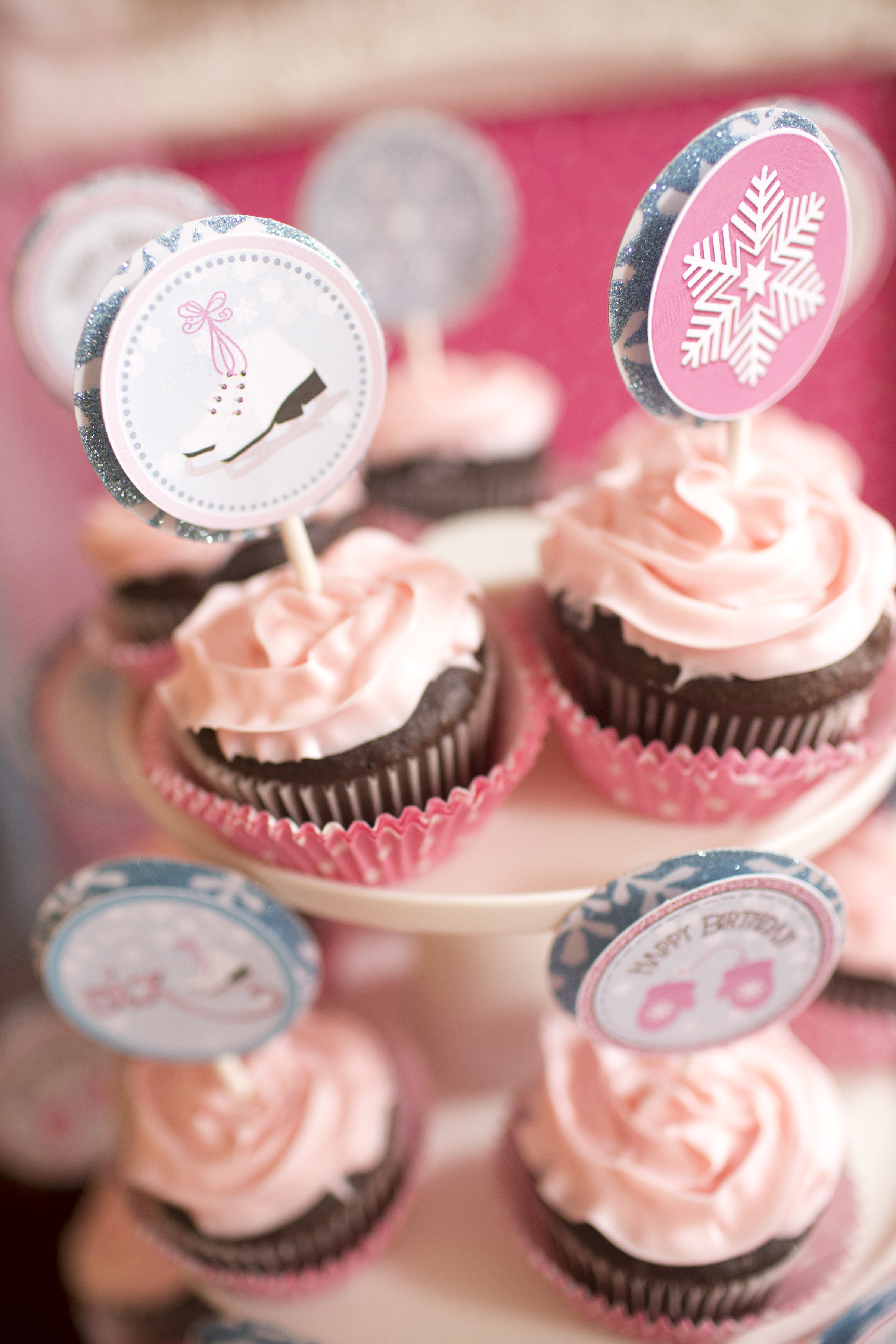 Ice Skate Cupcake Toppers