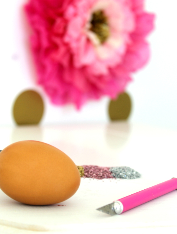 DIY Glitter Surprise Egg Step 1 Supplies