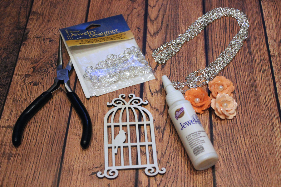 DIY SPring Bloom Necklace Supplies