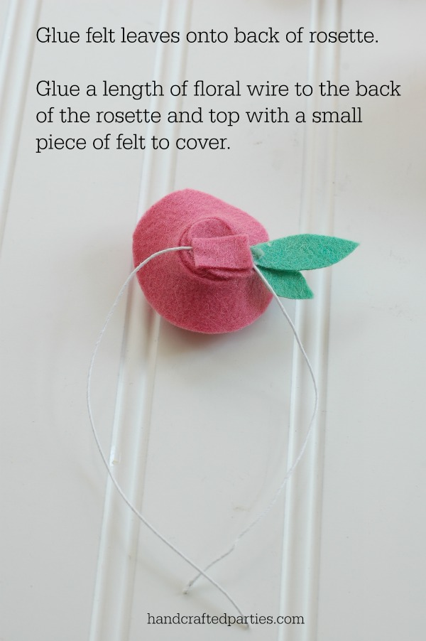 felt rosette tutorial