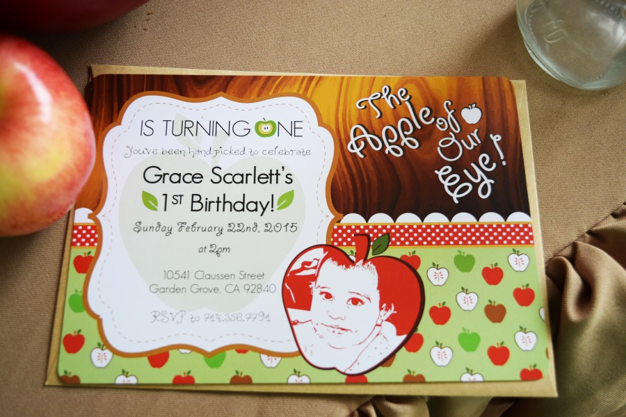 Sweetly Feature Apple Of My Eye First Birthday