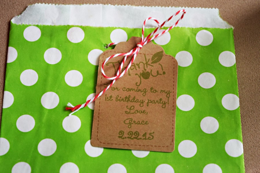 apple party thank you tags