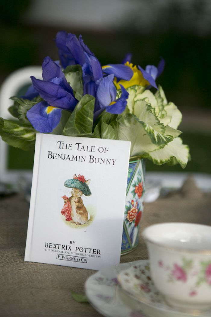 beatrix potter easter party mr mcgregors garden centerpiece
