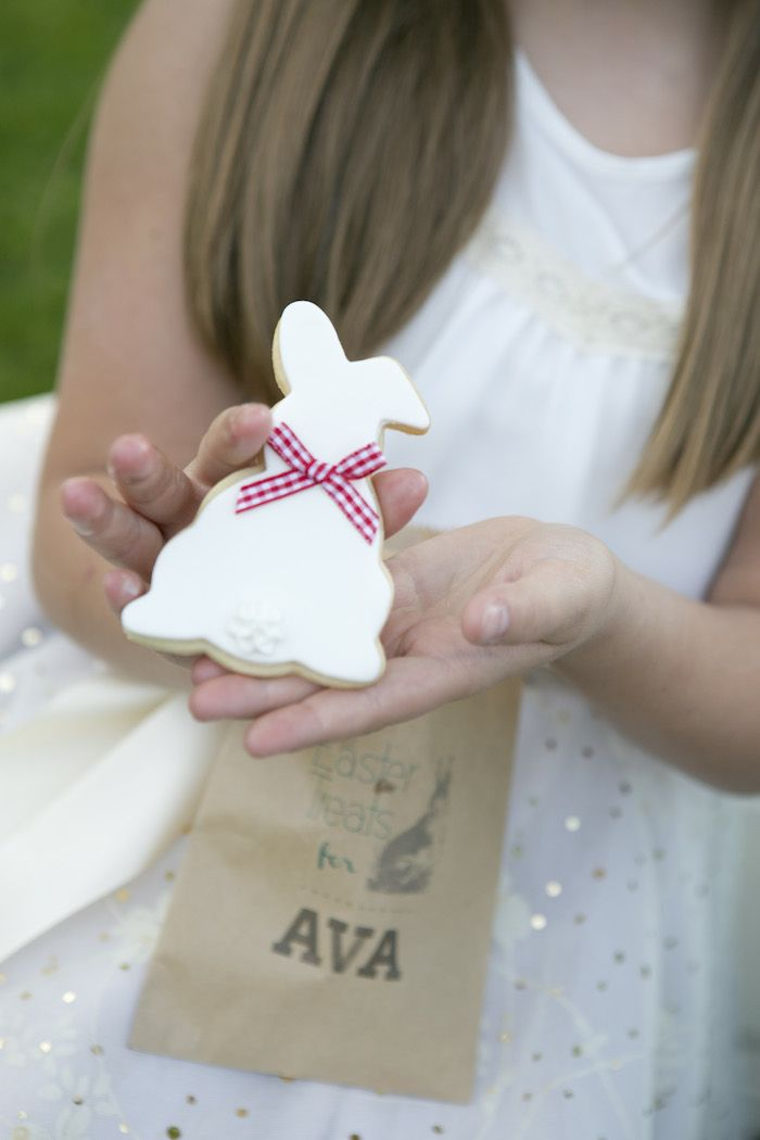 beatrix potter easter party bunny cookies