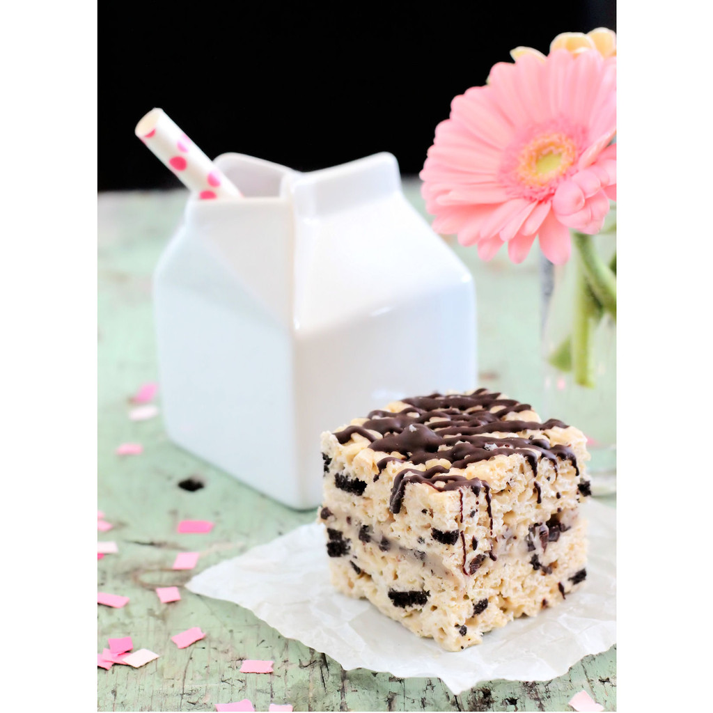 coockies and cream rice krispie treat recipe