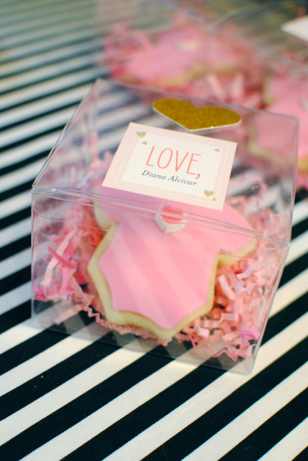 Diy Pink Baby Shower Favor Cookies