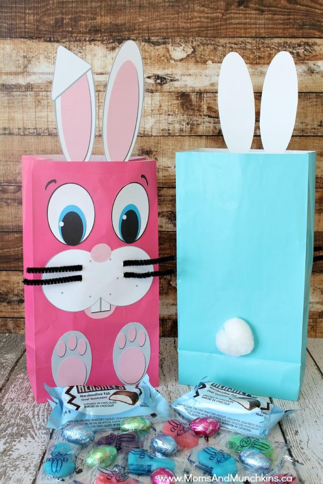 free easter bunny bag printables