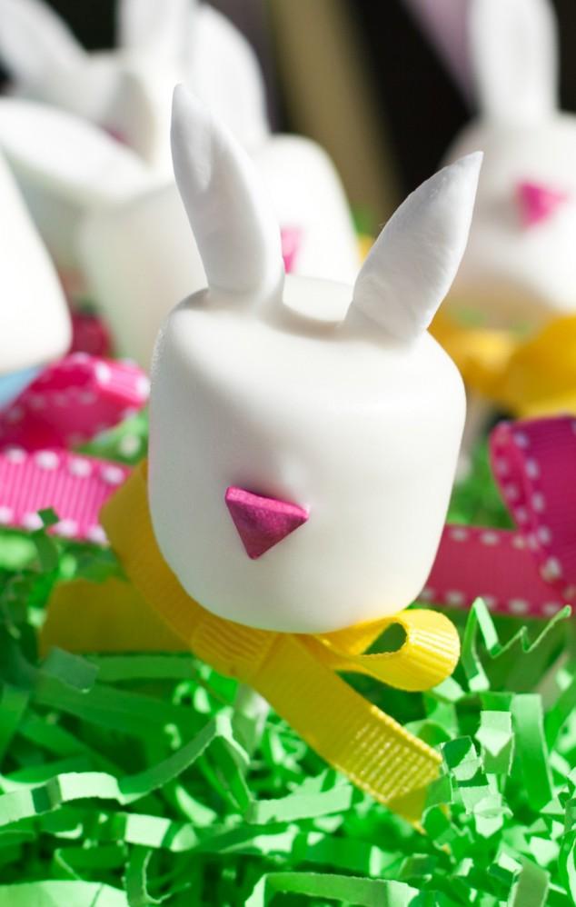 easter bunny marshmallow pop tutorial