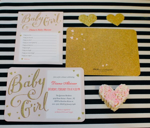 pink sparkle baby shower invittations