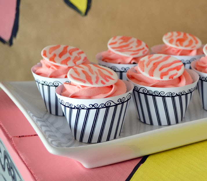 rainbow zoo zebra striped cupcake toppers