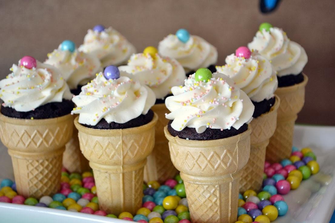 rainbow zoo ice cream cone cupcakes