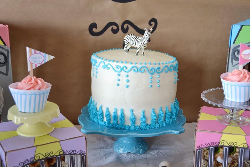 rainbow zoo  birthday cake
