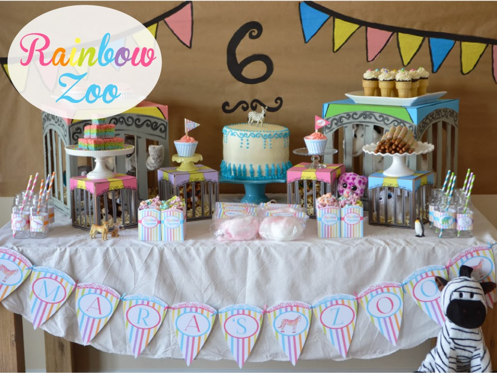 rainbow zoo birthday party