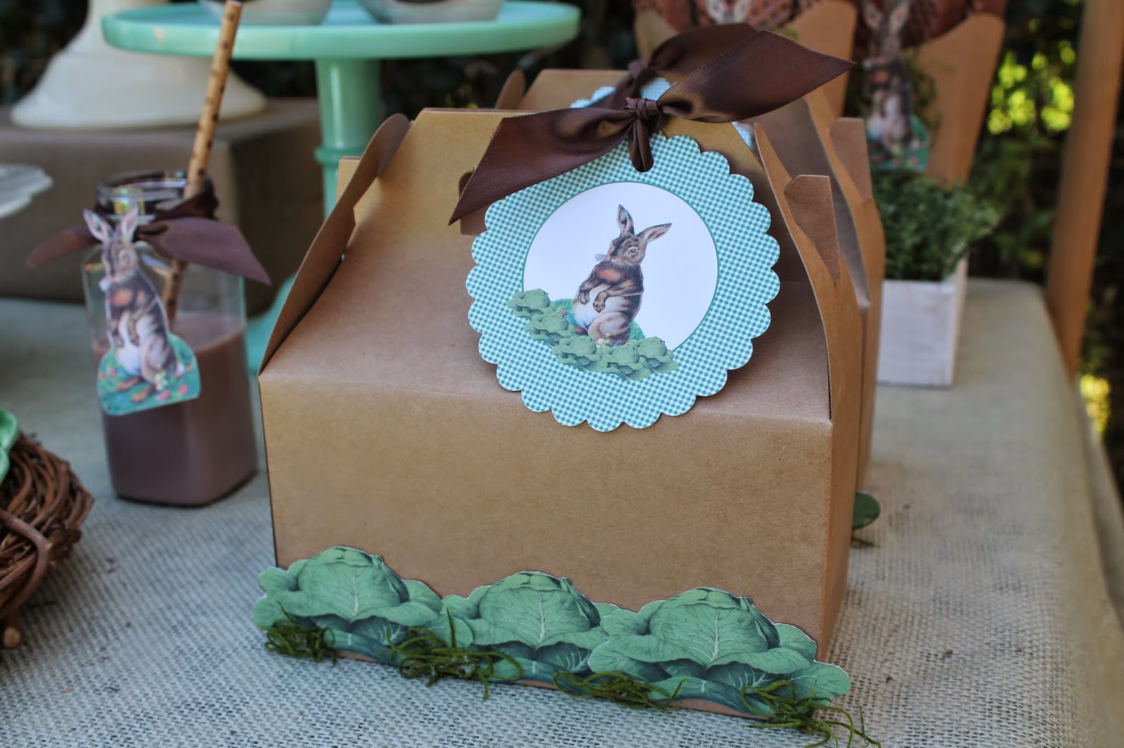vintage easter party gable boxes
