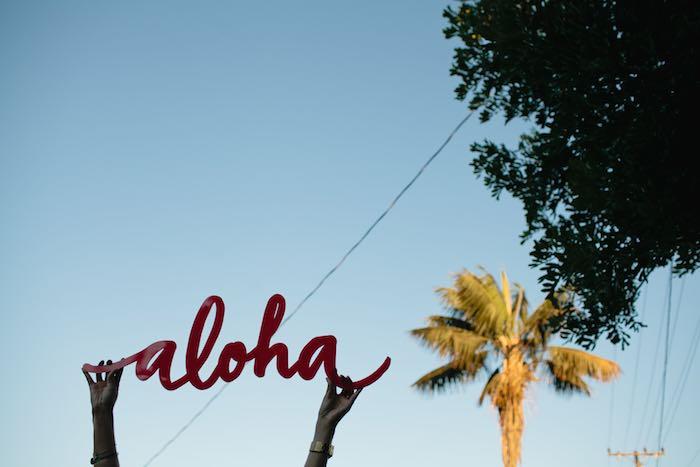 Aloha Luau Bridal Shower Aloha Sign