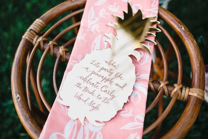 Aloha Luau Bridal Shower  Invitation