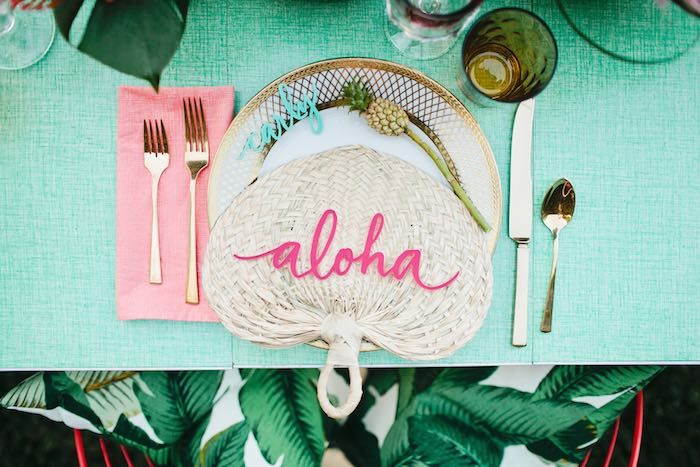 Aloha Luau Bridal Shower Place Setting
