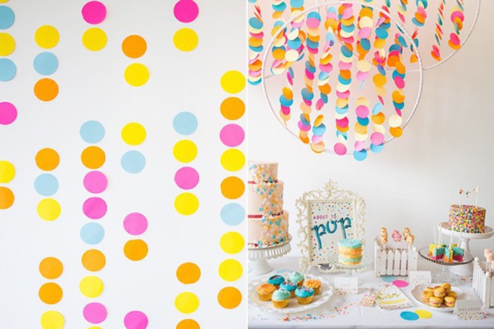Confetti & Sprinkles Baby Shower Confetti Backdrop