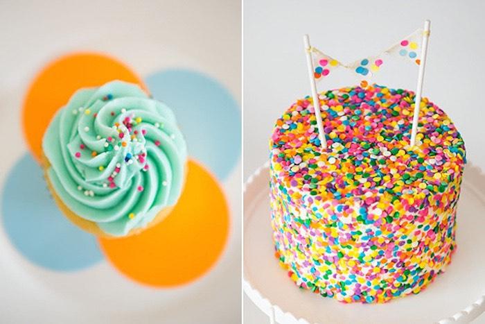 Confetti & Sprinkles Baby Shower Confetti Cake
