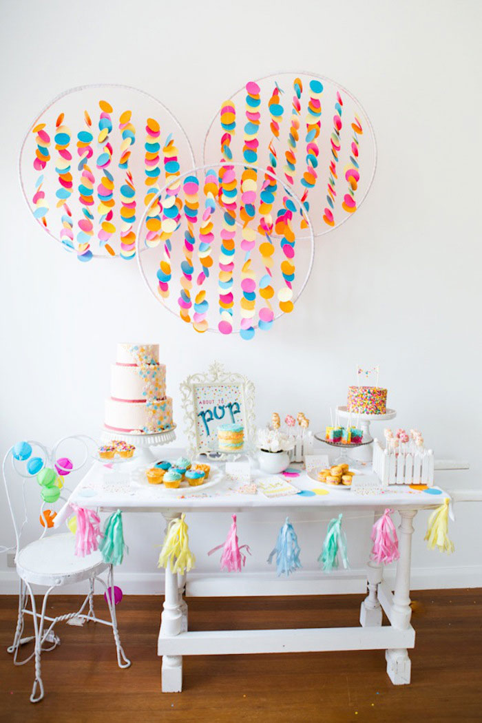 Confetti & Sprinkles Baby Shower Confetti Hoops