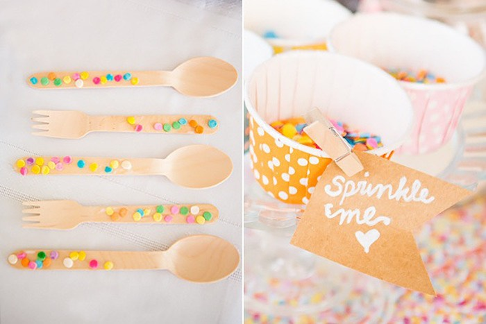 confetti sprinkles baby shower confetti spoons