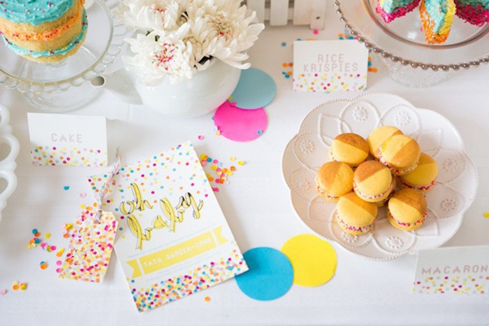 Confetti & Sprinkles Baby Shower Desserts