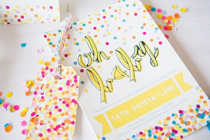 Confetti & Sprinkles Baby Shower Invitation