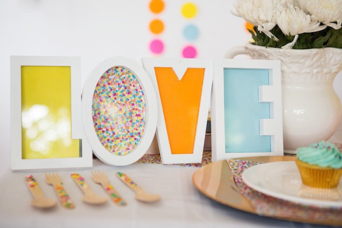 Confetti & Sprinkles Baby Shower Love Signage