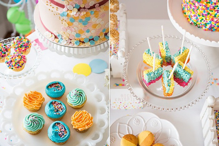 Confetti & Sprinkles Baby Shower Square Cake pops